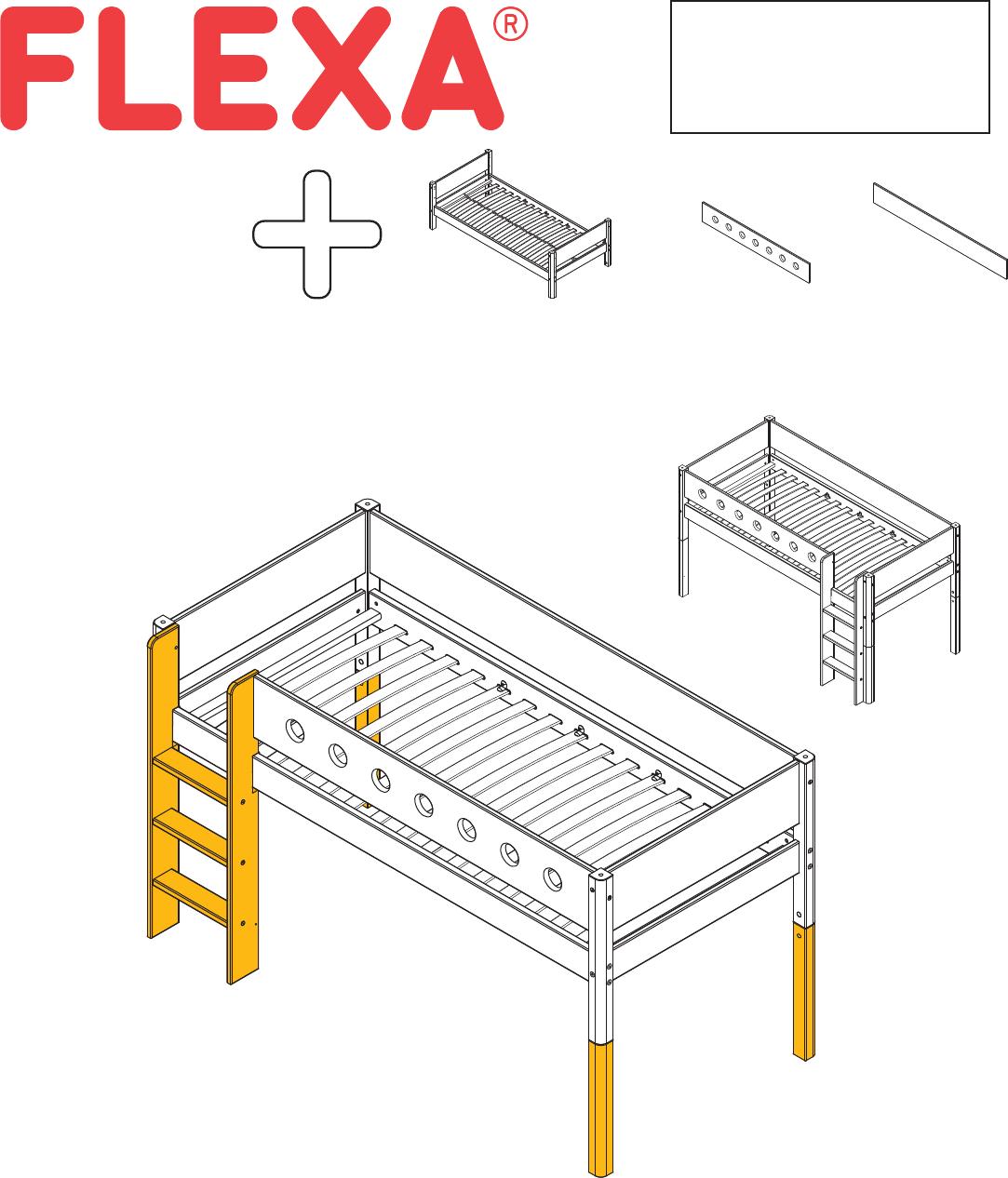 Flexa Bed Hoogslaper.Handleiding Flexa Hoogslaper 80 17305 40 95 Pagina 1 Van 6 Dansk