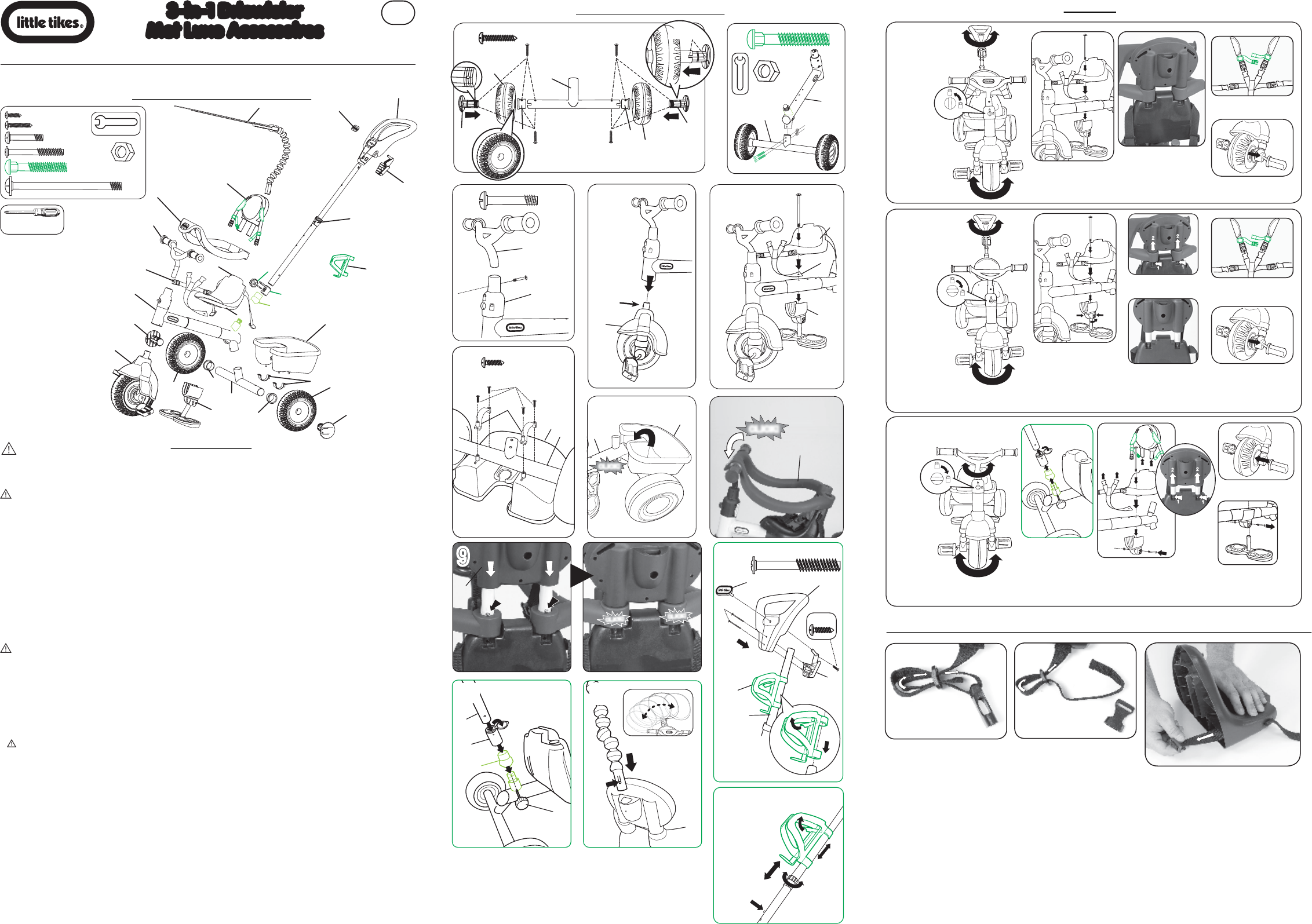 Peuterbed Little Tikes.Handleiding Little Tikes 3 In 1 Trike 627002mx2 Pagina 10 Van 12