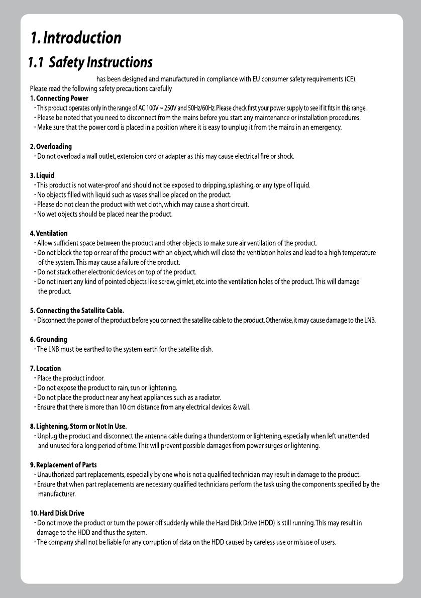 Handleiding Zgemma Star H2 (pagina 5 van 32) (English)