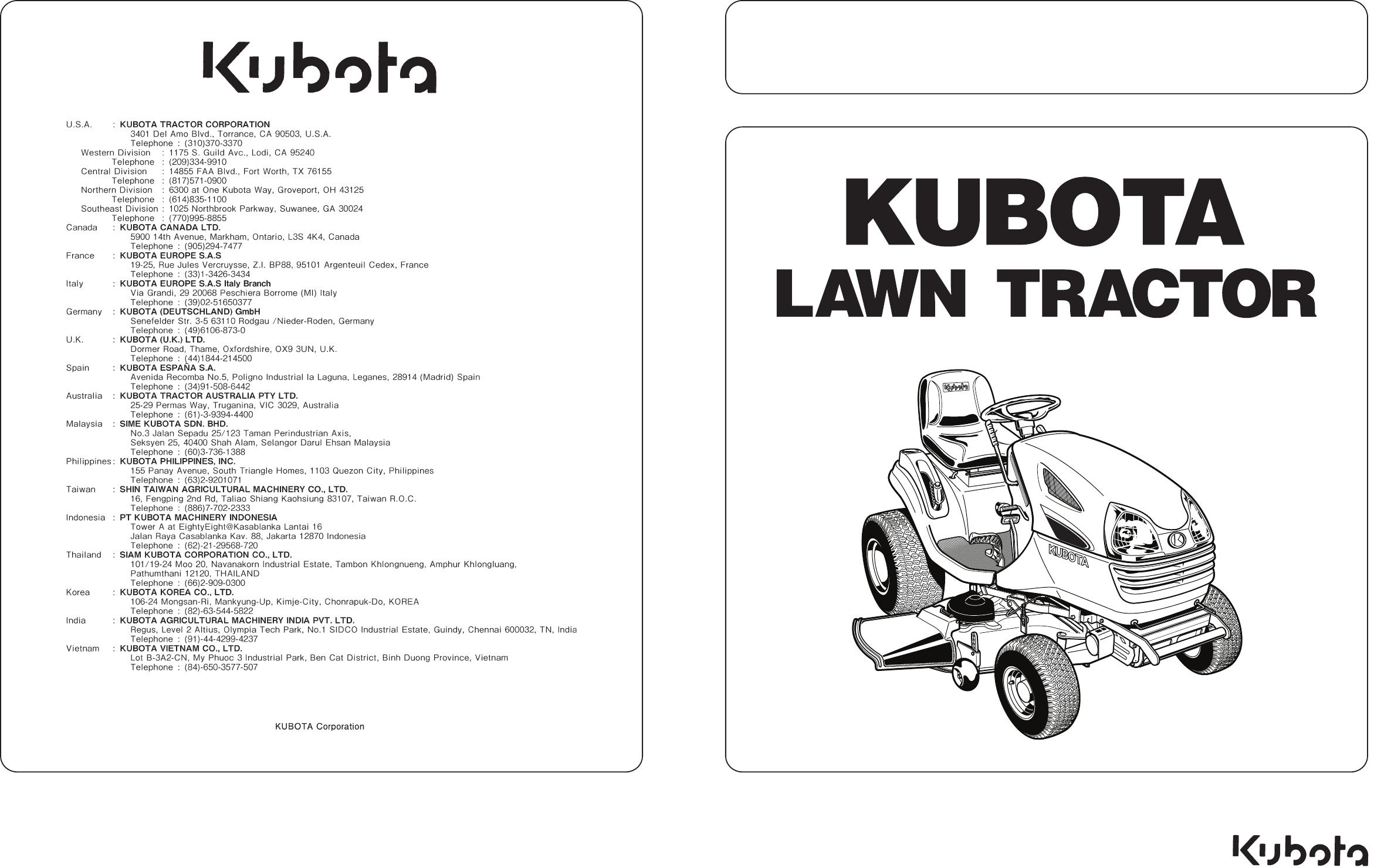 Handleiding Kubota T1880 (pagina 1 van 78) (English)