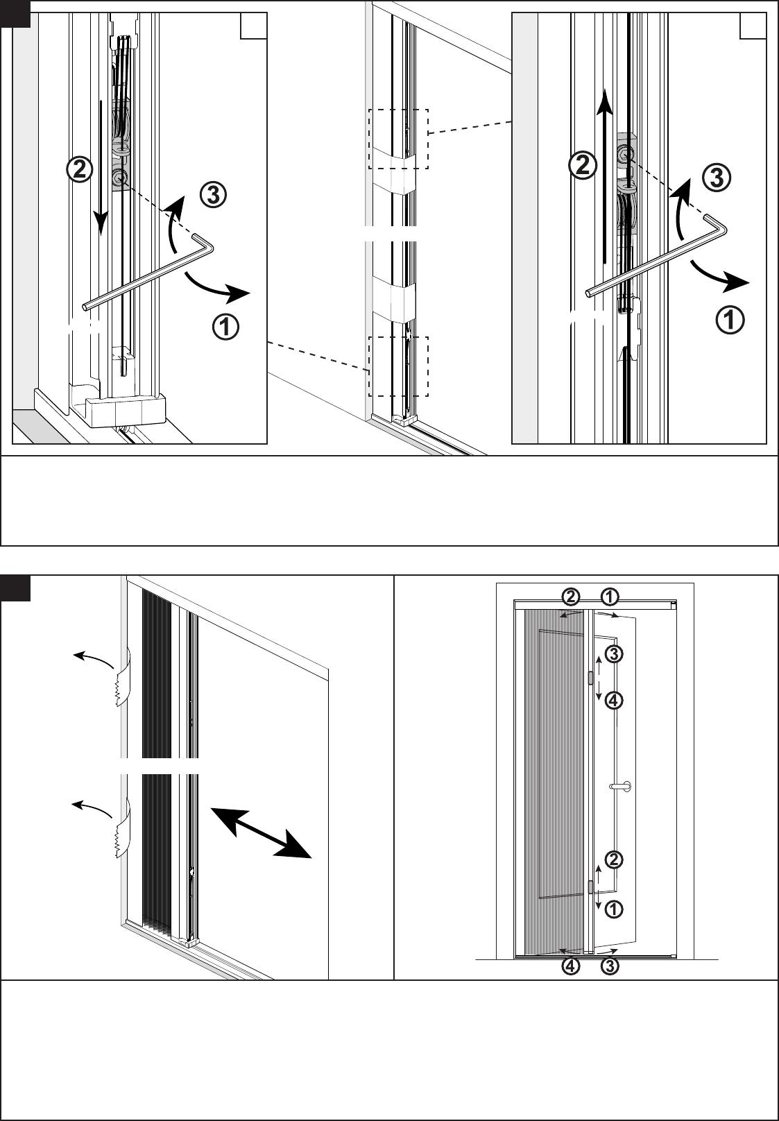Bekend Handleiding Bruynzeel 634576 S700 Plisse Hordeur (pagina 10 van 12 WG87