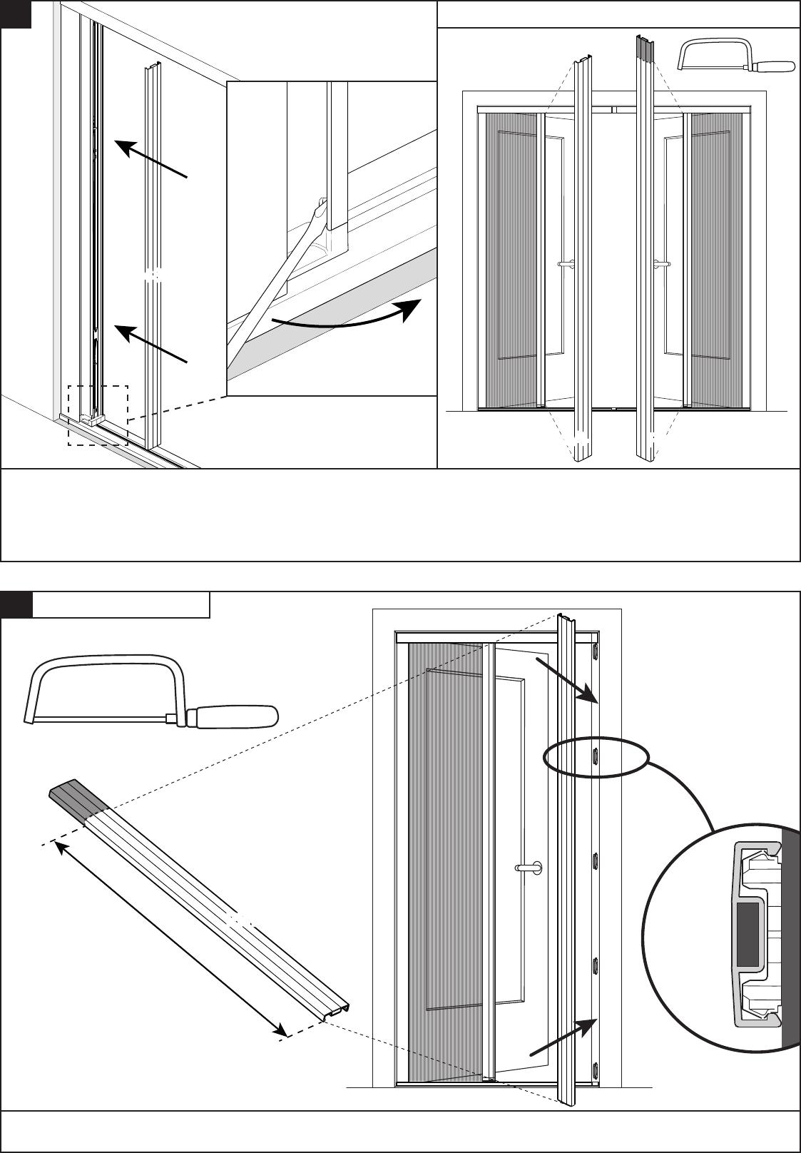 Favoriete Handleiding Bruynzeel 634576 S700 Plisse Hordeur (pagina 11 van 12 DP19