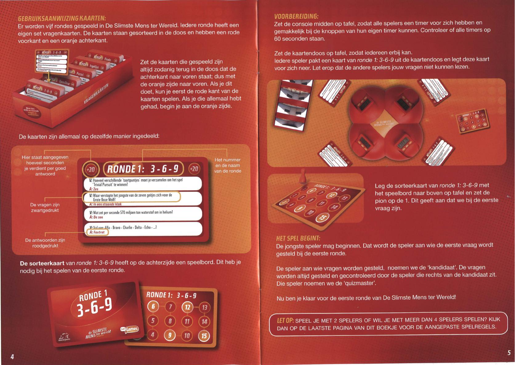 Handleiding Just Games De Slimste Mens Ter Wereld Het Bordspel Pagina 1 Van 5 Nederlands