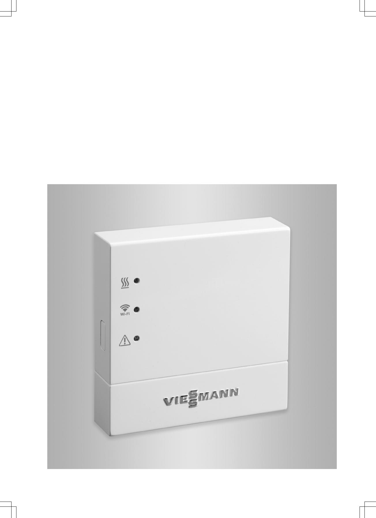 Handleiding viessmann vitoconnect 100 opto1 pagina 1 van for Viessmann vitoconnect