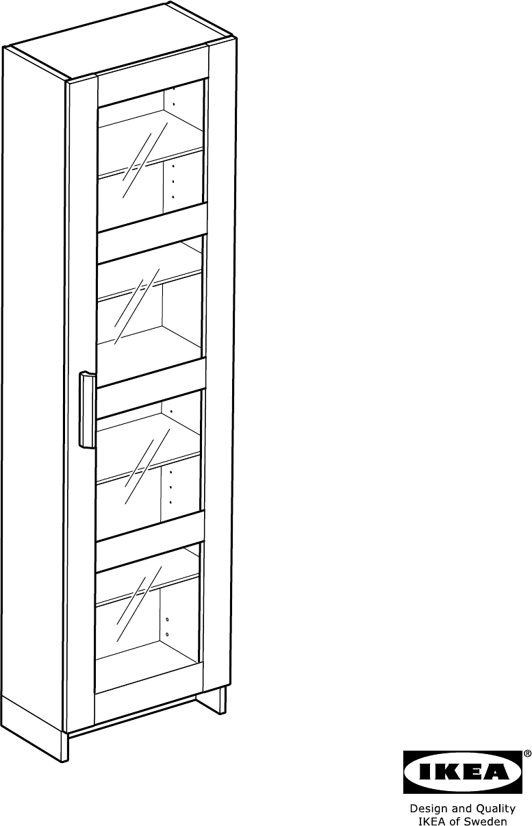 Handleiding Ikea 60300656 Brimnes Hoge Kast Met