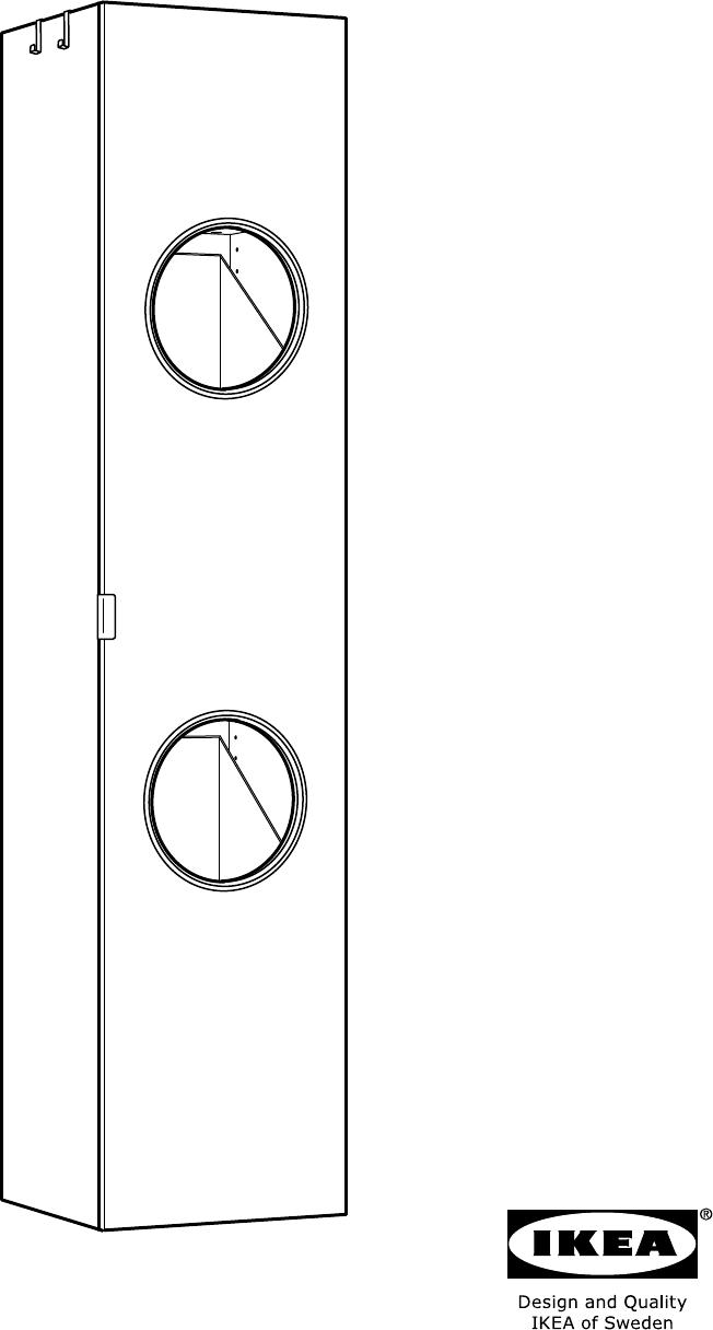 Wonderbaarlijk Handleiding Ikea 102.062.46 LILLANGEN Kast wasgoed (pagina 1 van YA-05
