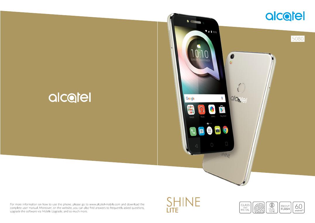 Handleiding Alcatel Shine Lite - 5080 (pagina 1 van 53) (English)