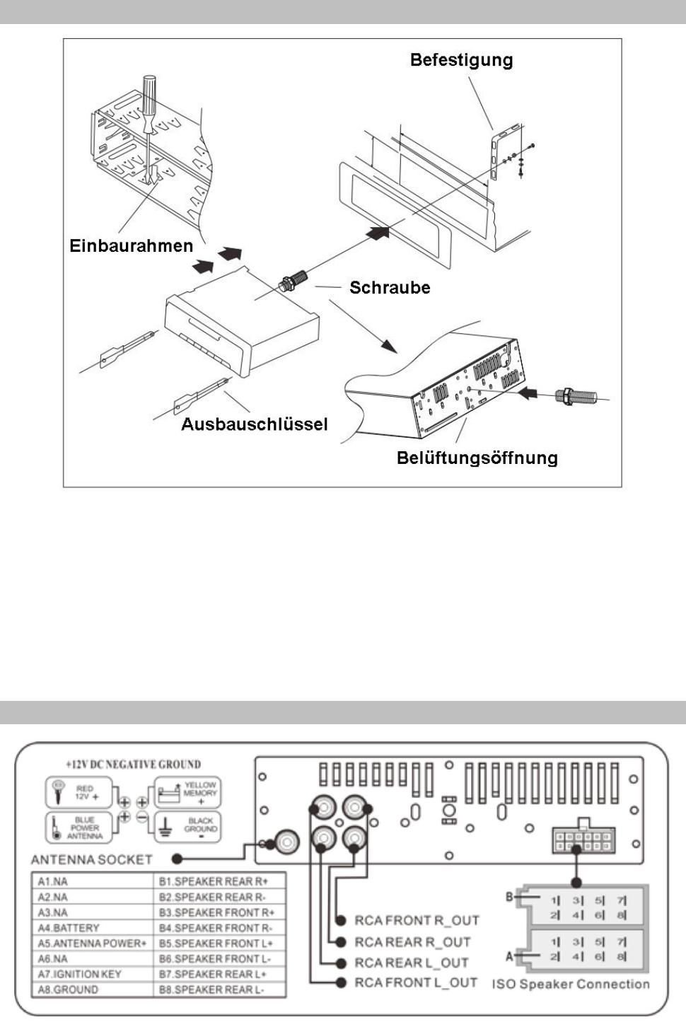 Handleiding Auna MD120 10006450 (pagina 8 van 10) (Deutsch, English)