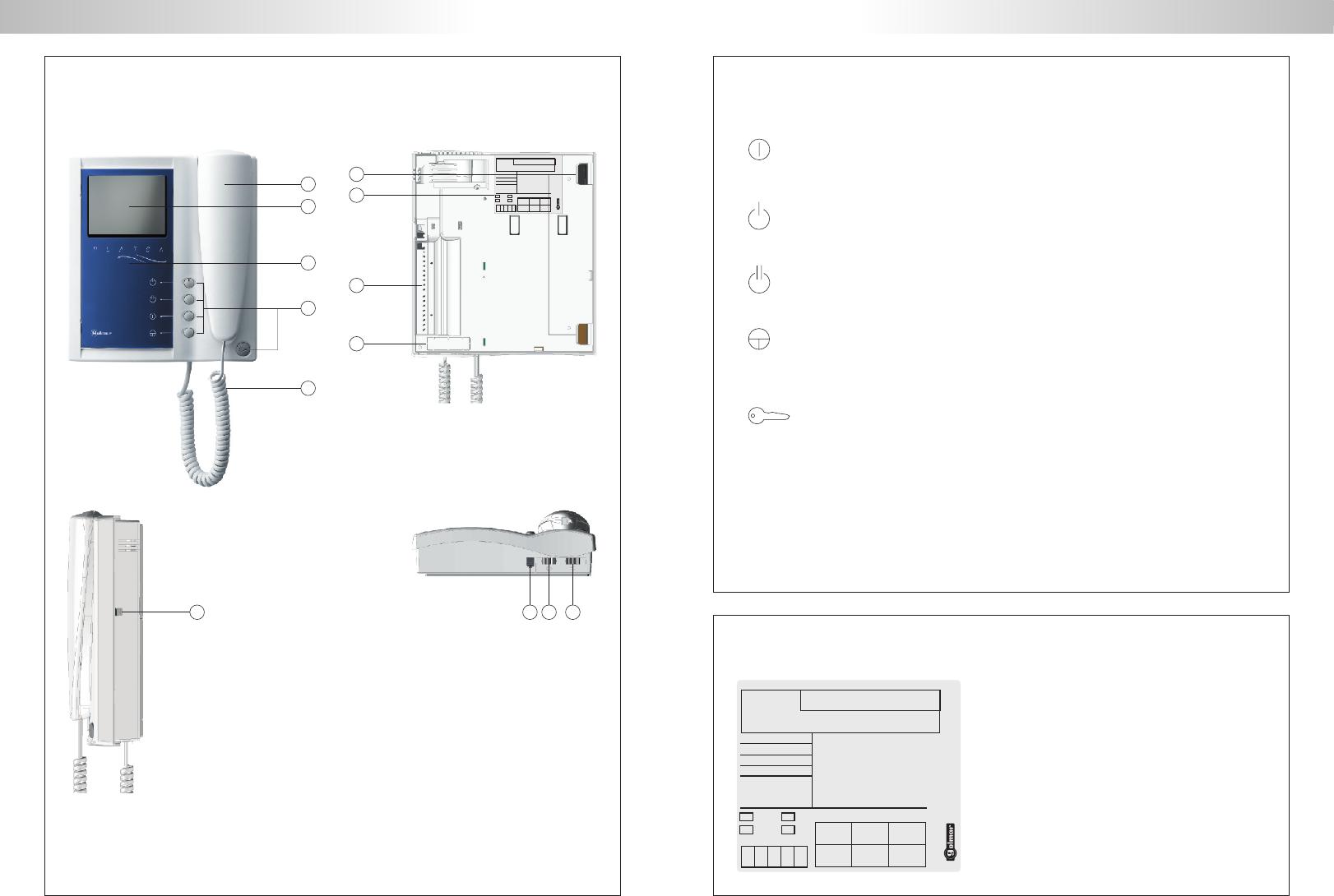 handleiding golmar stadio plus t500en pagina 9 van 18 english rh gebruikershandleiding com Wired Intercom Systems Nutone Intercom Wiring-Diagram