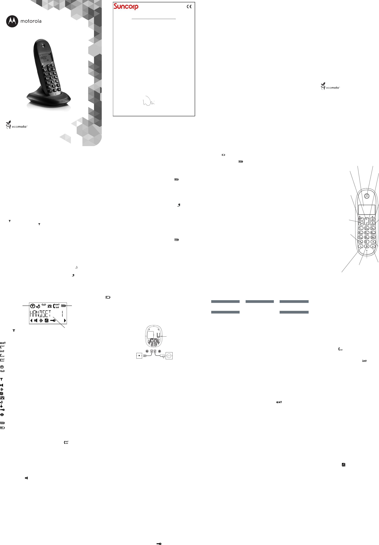 Handleiding Motorola C1003LB plus (pagina 1 van 2) (Espanõl)
