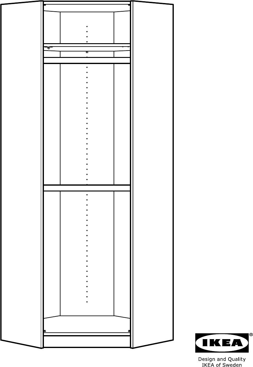 Hoekkast Ikea Pax.Handleiding Ikea Pax Hoekkast 502 198 50 Pagina 1 Van 40