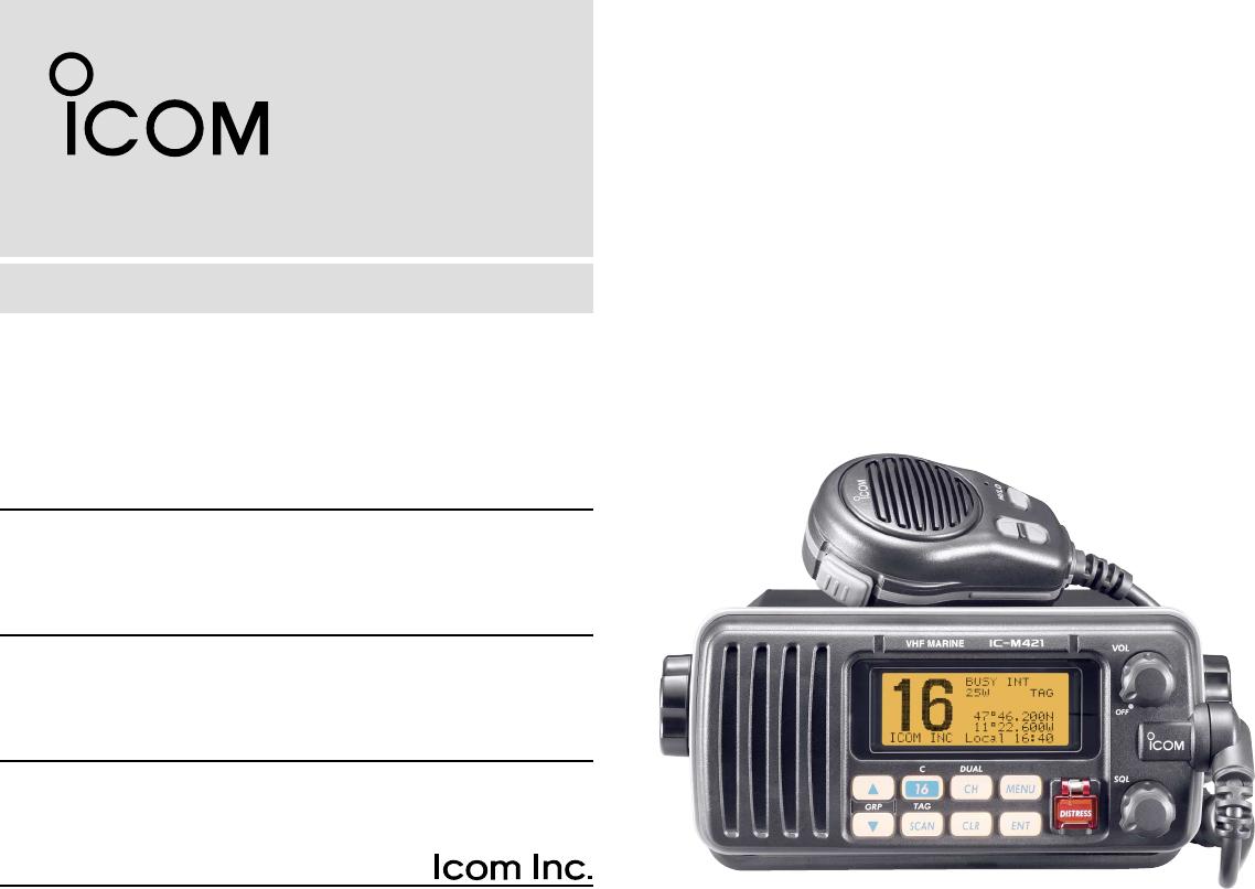 handleiding icom ic m421 pagina 3 van 64 english rh gebruikershandleiding com icom m421 service manual icom m412 manual