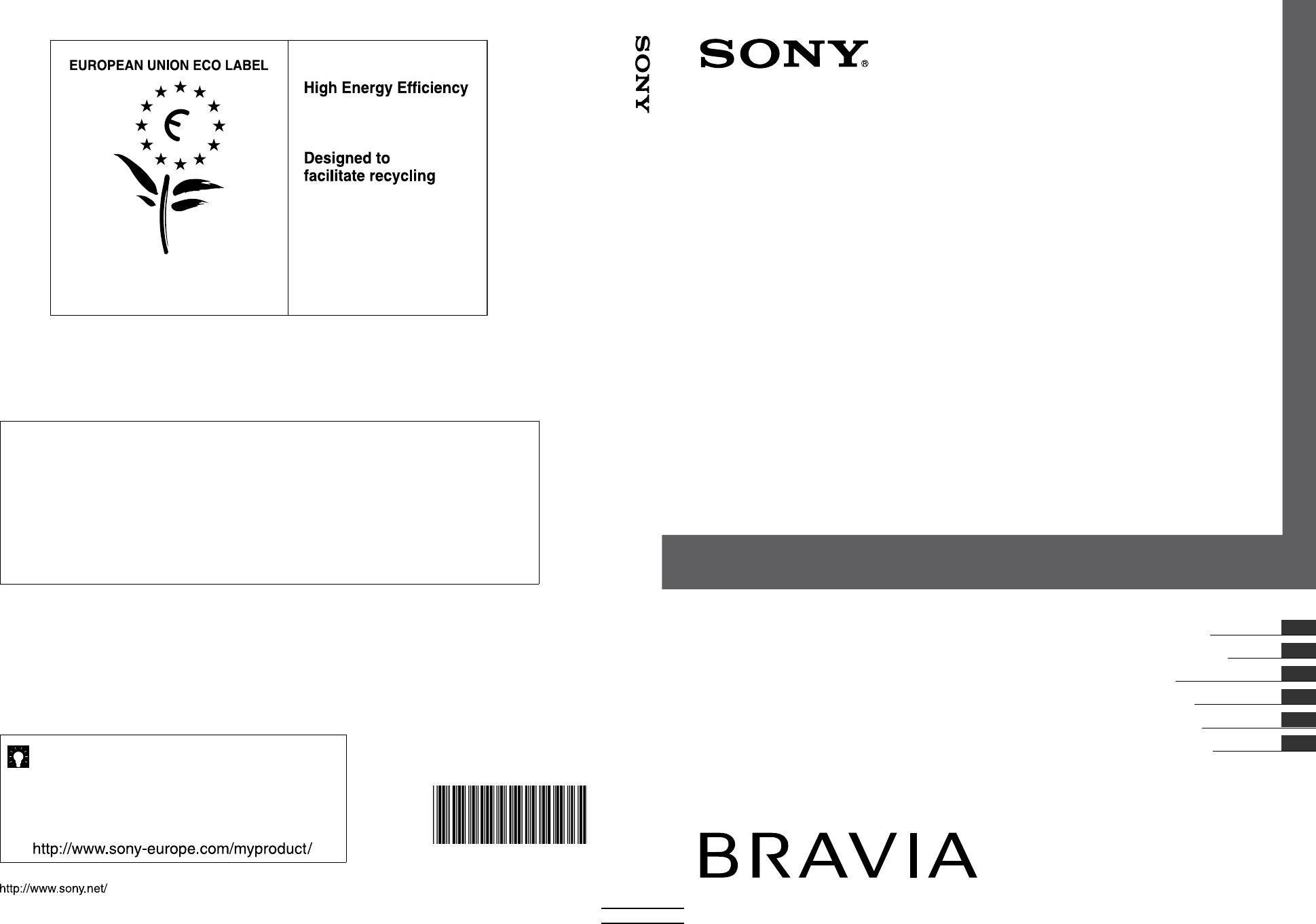 Handleiding sony kdl 37s5500 pagina 1 van 208 deutsch english espan l espan l fran ais - Mur pour televisie ...