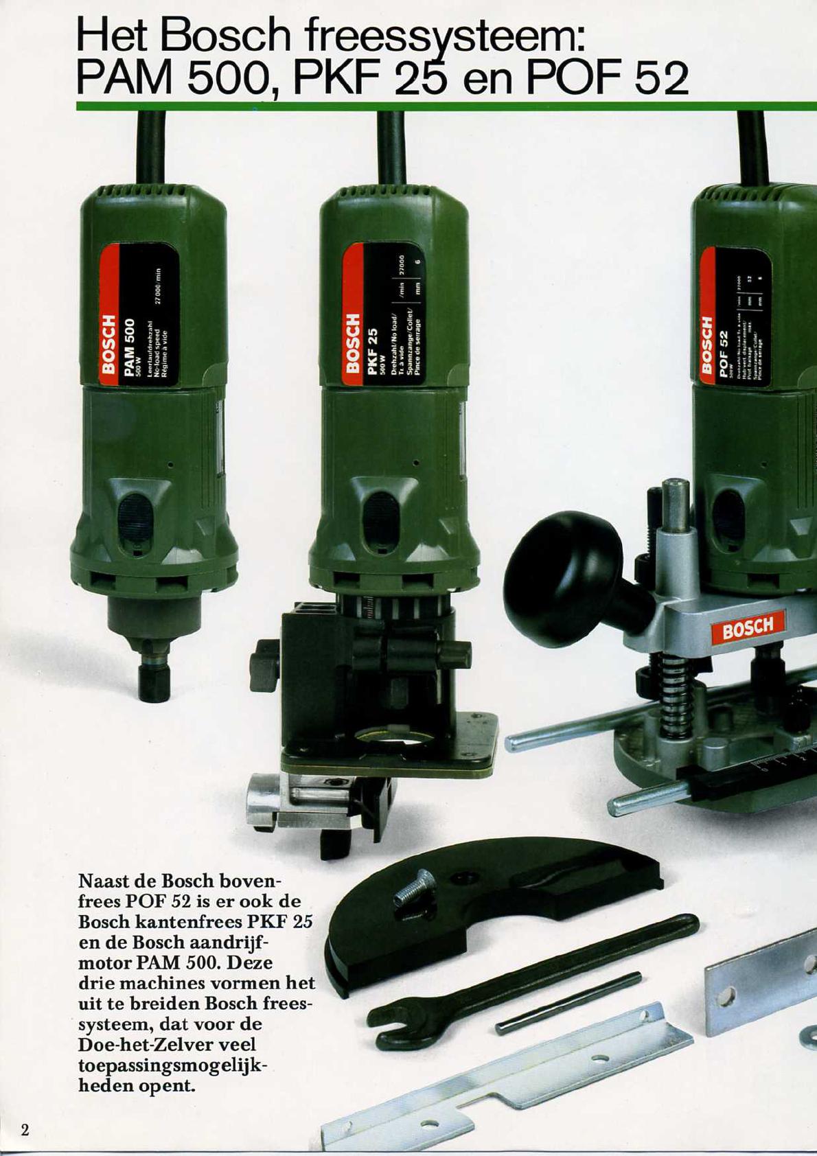 Handleiding Bosch POF 52- PKF 25- PAM 500 (pagina 3 van 22