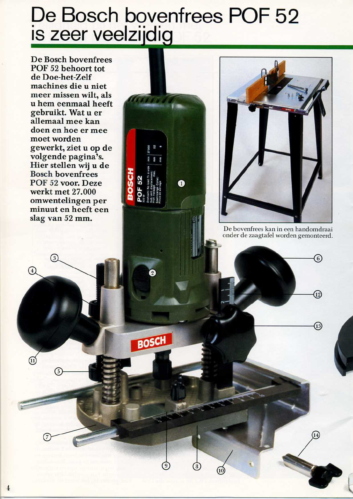 Handleiding Bosch POF 52- PKF 25- PAM 500 (pagina 5 van 22