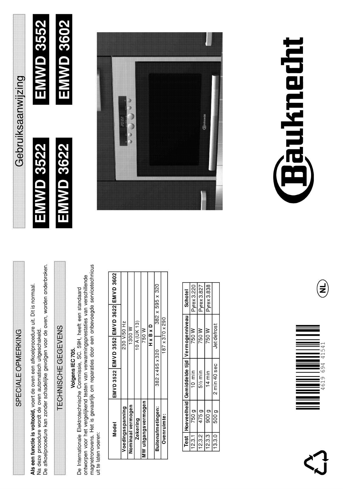 Bauknecht emwd 3622