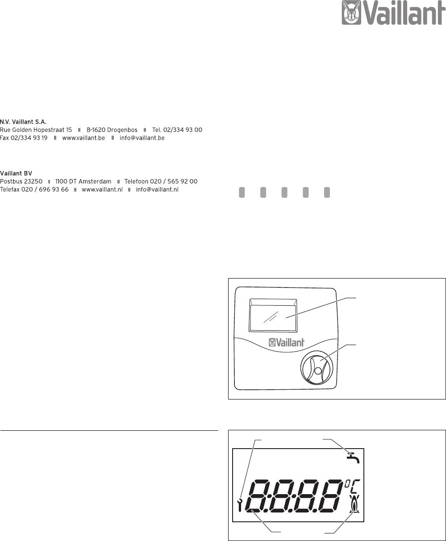 Favoriete Handleiding Vaillant VRT 50 (pagina 1 van 4) (Nederlands) HA86