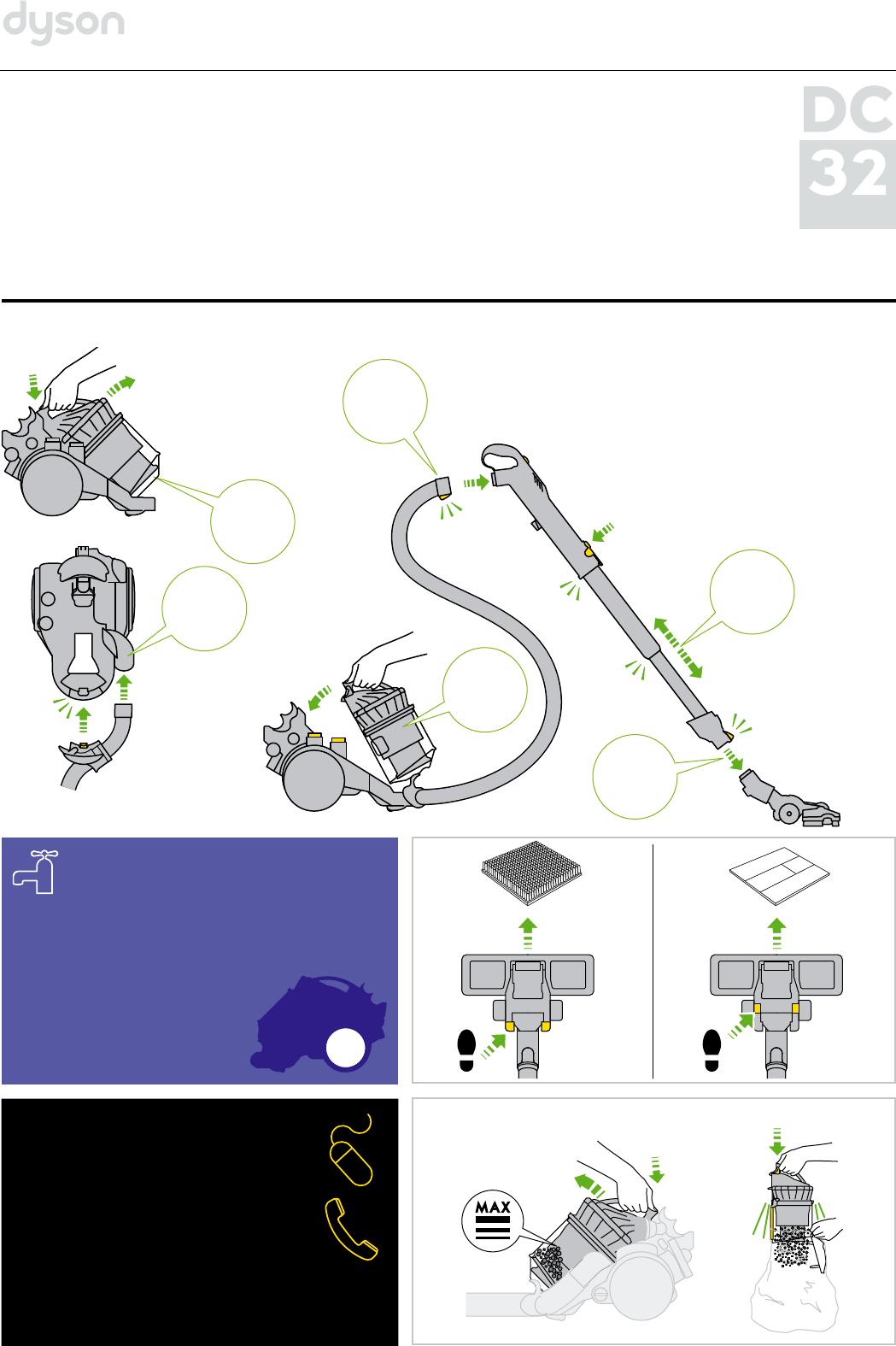 Дайсон 32 пылесос инструкция dyson airblade db ав 14 grey