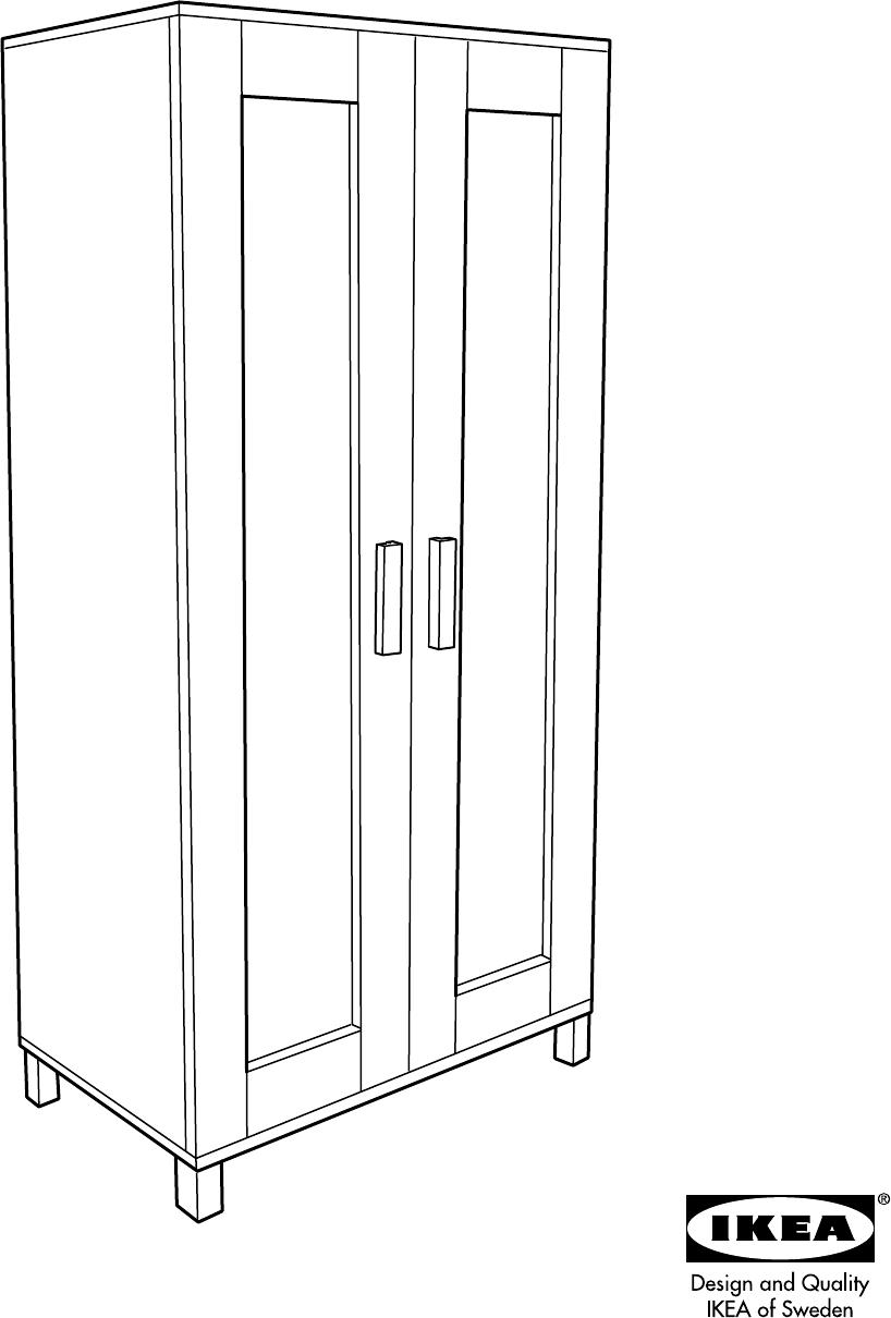 Verwonderlijk Handleiding Ikea Aneboda kast (pagina 1 van 12) (Nederlands) HP-46