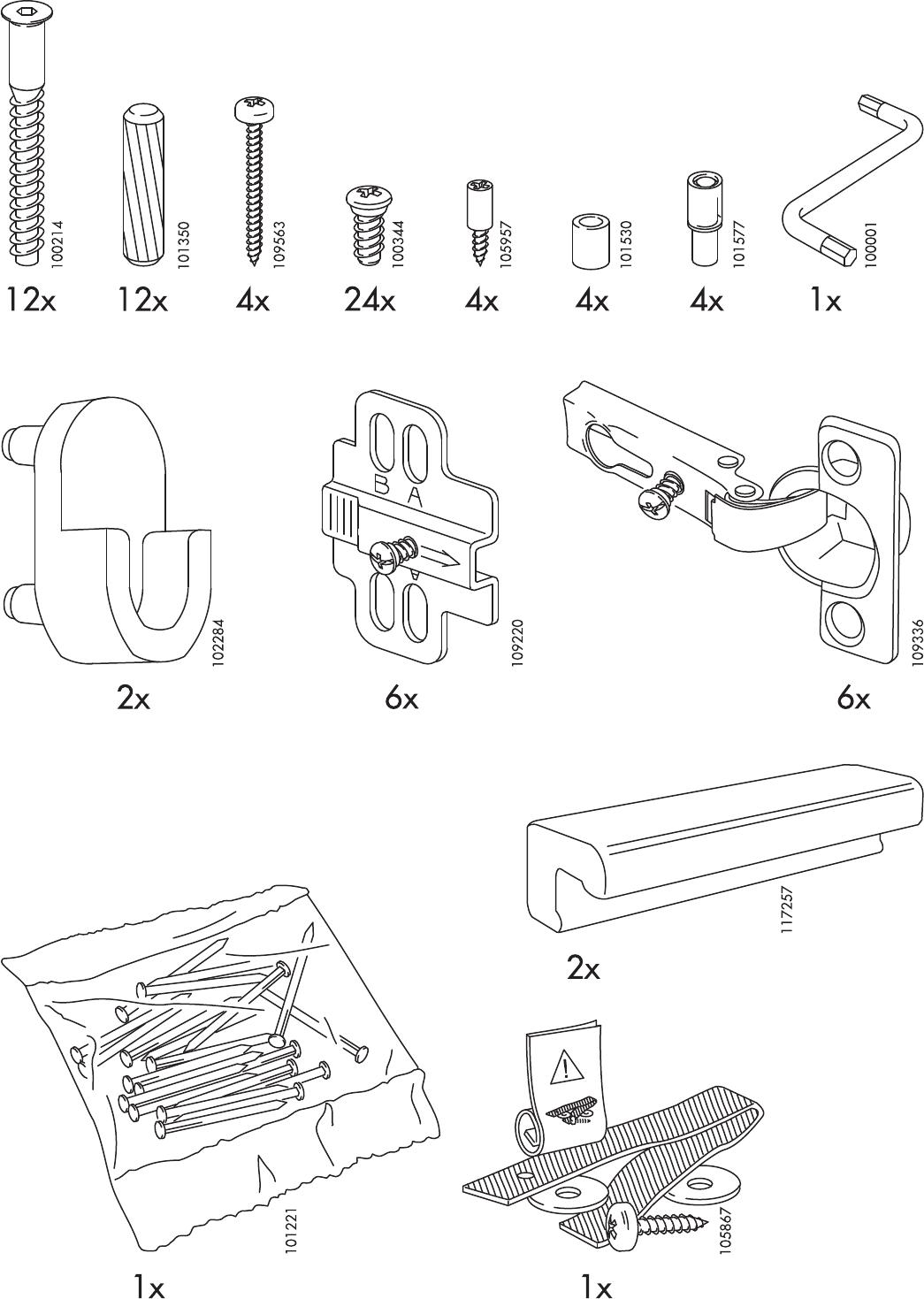 Handleiding Ikea Aneboda Kast Pagina 3 Van 12 Nederlands