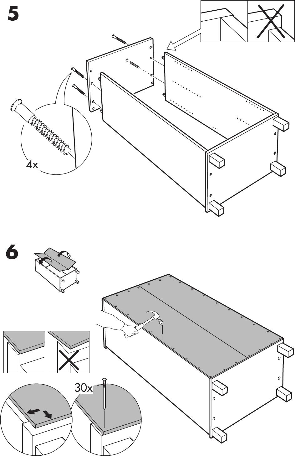 Handleiding Ikea Aneboda Kast Pagina 7 Van 12 Nederlands