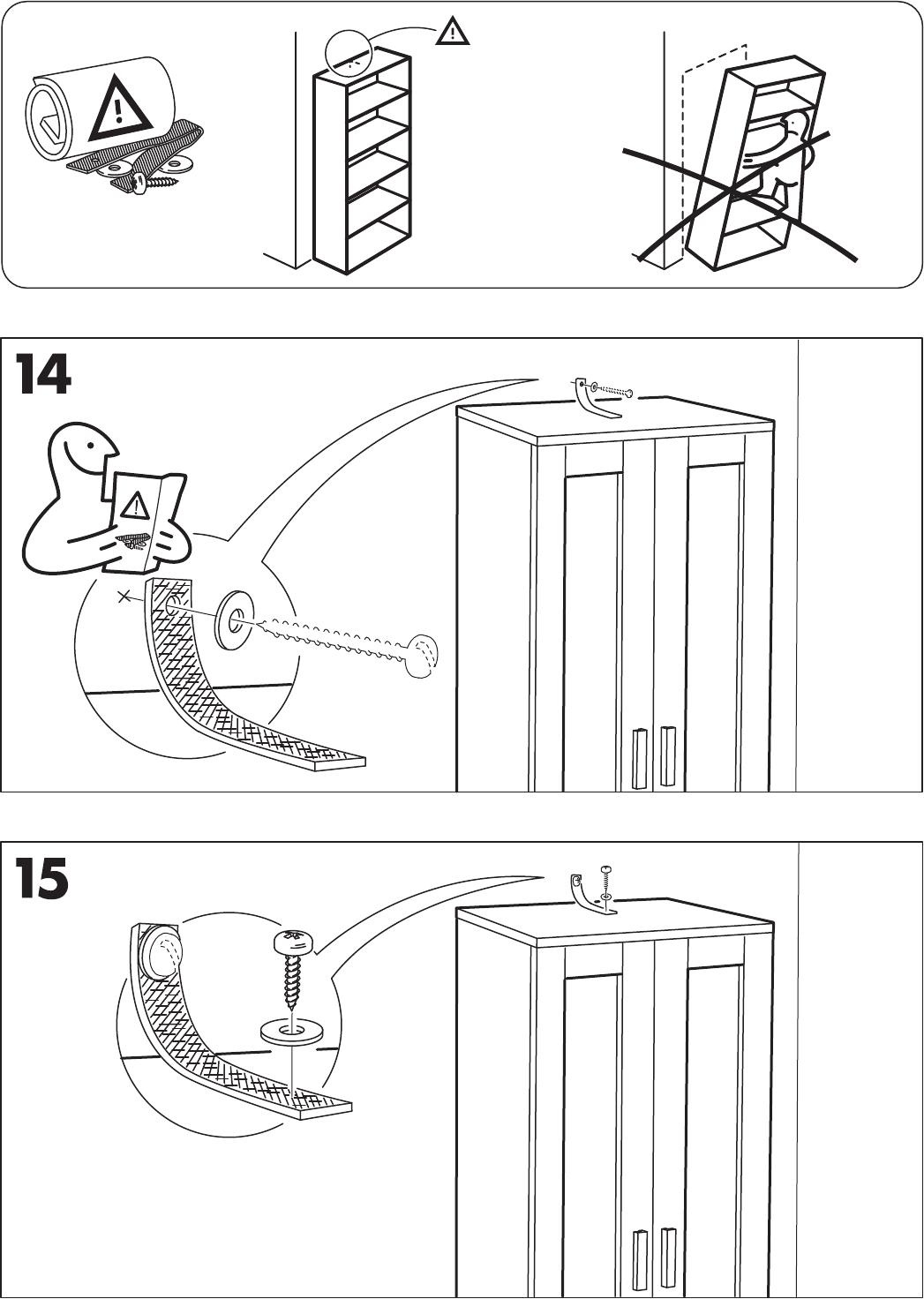 Handleiding Ikea Aneboda Kast Pagina 12 Van 12 Nederlands