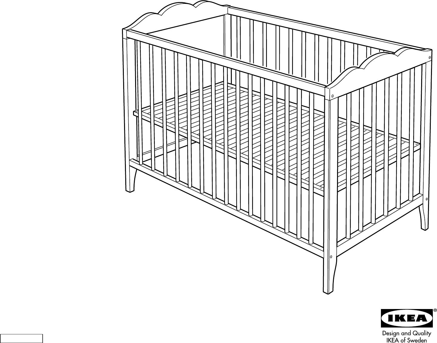 Handleiding ikea hensvik babybed pagina 1 van 4 dansk - Notice lit ikea ...