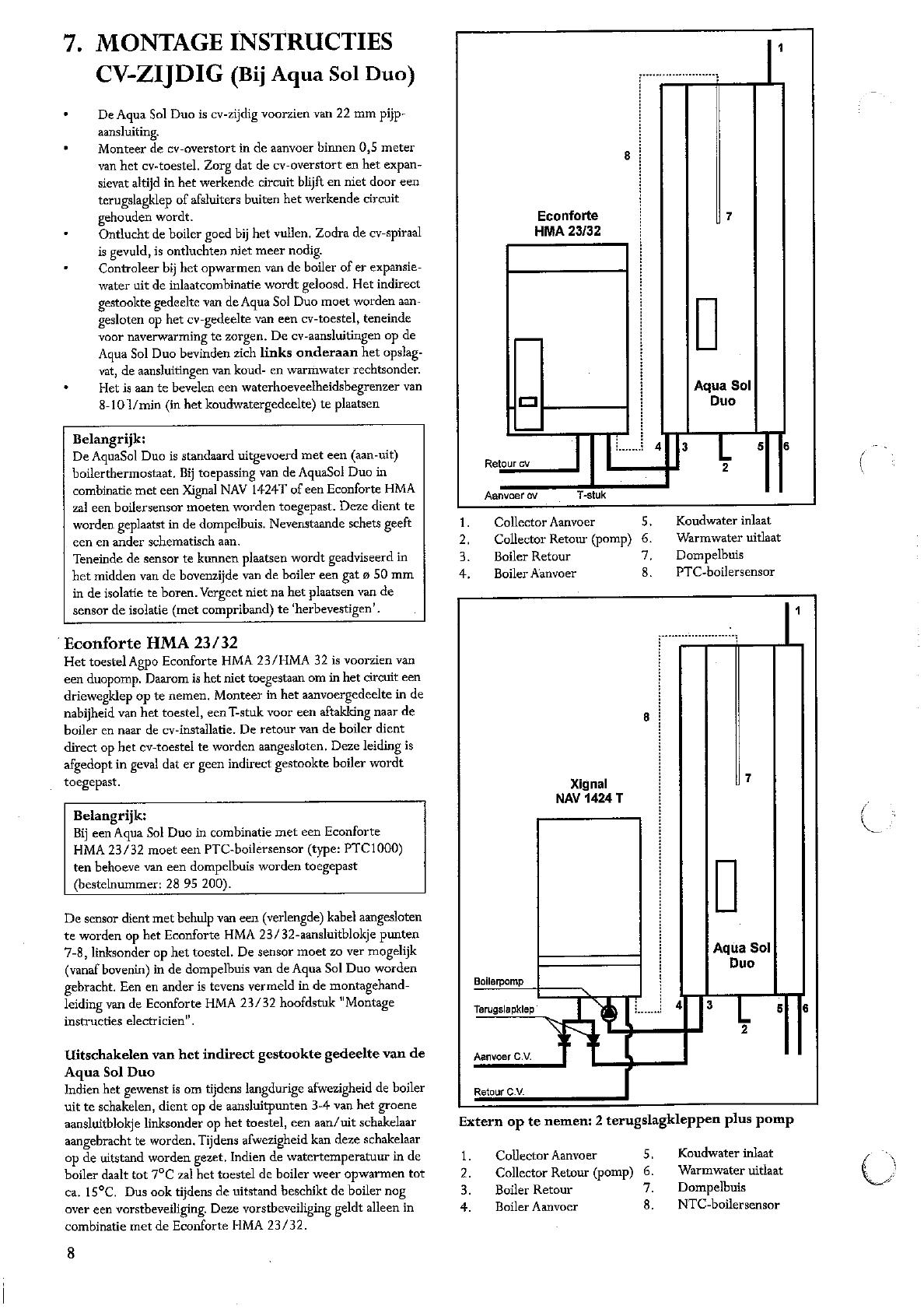 Nieuw Handleiding Agpo Ferroli ZEN Aqua Sol Economy (pagina 8 van 20 MX-86