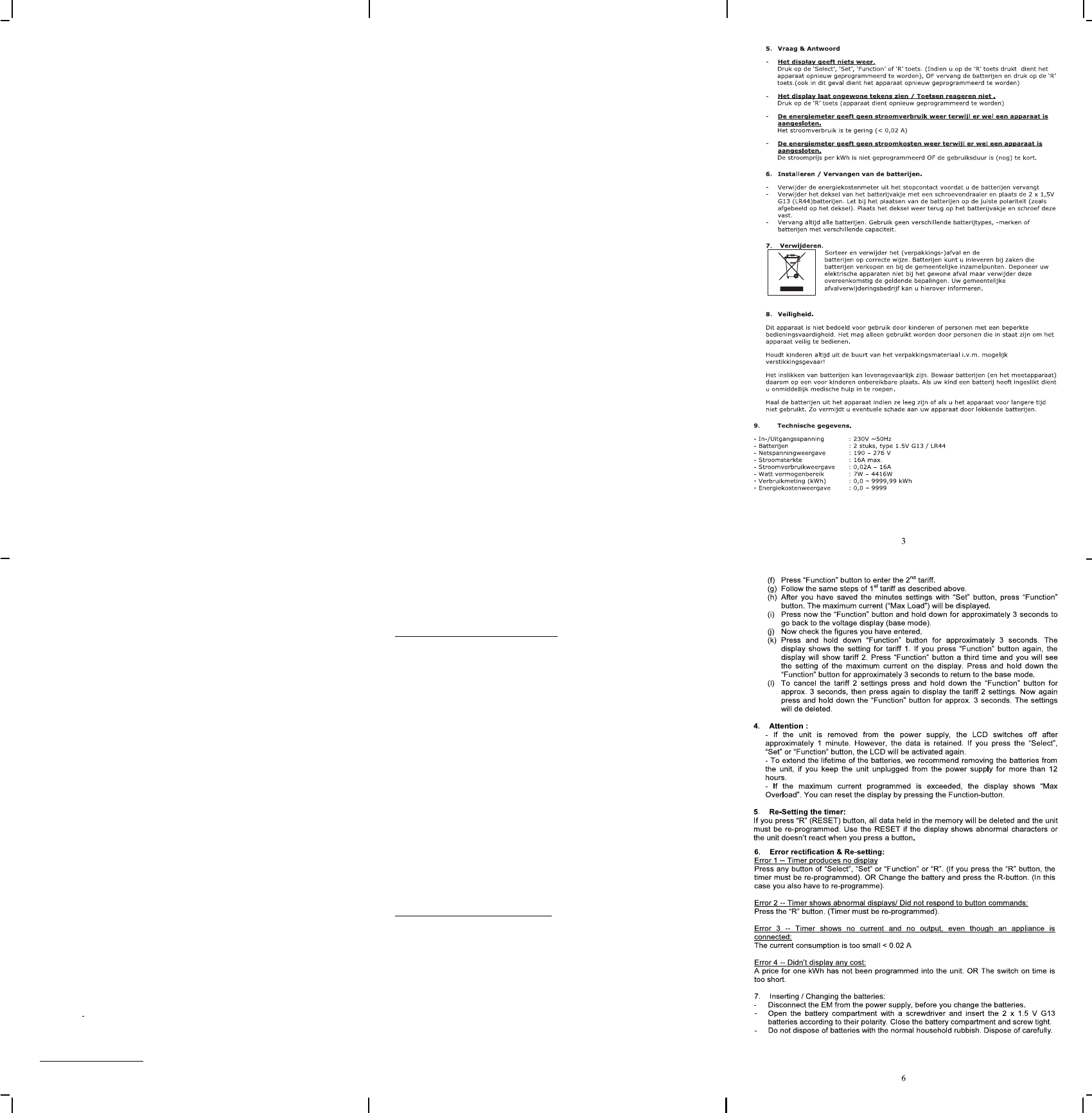 Wonderbaar Handleiding Cresta RCE1106 (pagina 1 van 2) (Deutsch, English UT-06