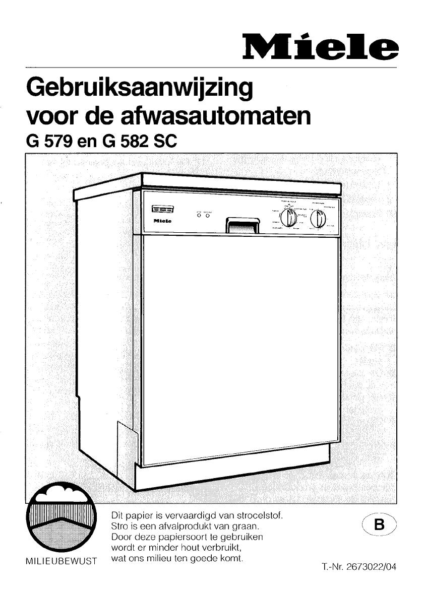 handleiding miele g579 pagina 1 van 48 nederlands. Black Bedroom Furniture Sets. Home Design Ideas