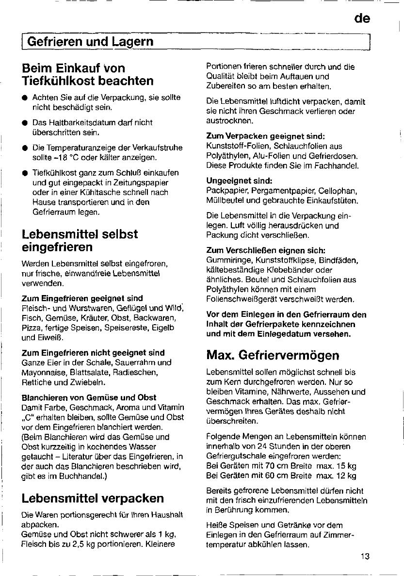 Handleiding Bosch kgs 3272 (pagina 12 van 129) (Deutsch, English ...