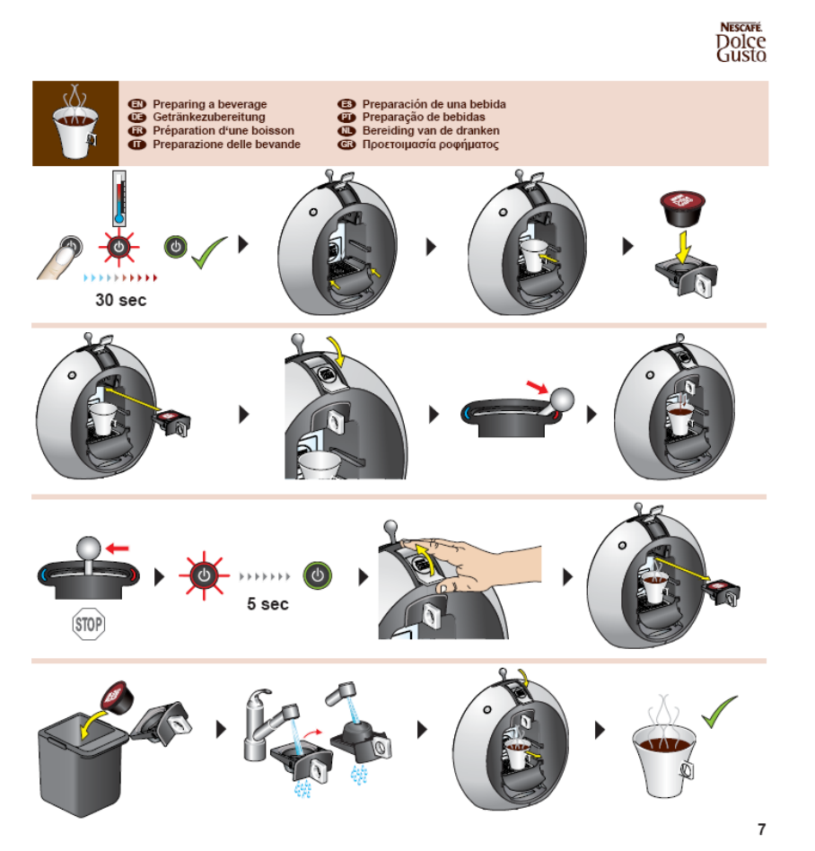 nescafe dolce gusto krups instructions