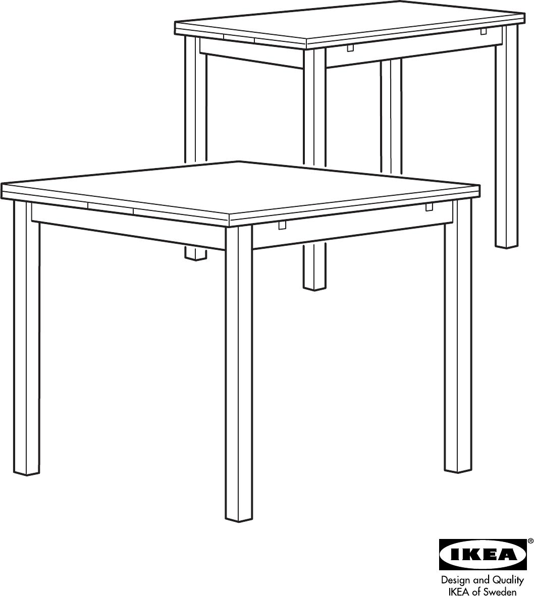 Ikea Tafel Bjursta Uitschuifbaar.Handleiding Ikea Bjursta Pagina 1 Van 12 Dansk Deutsch