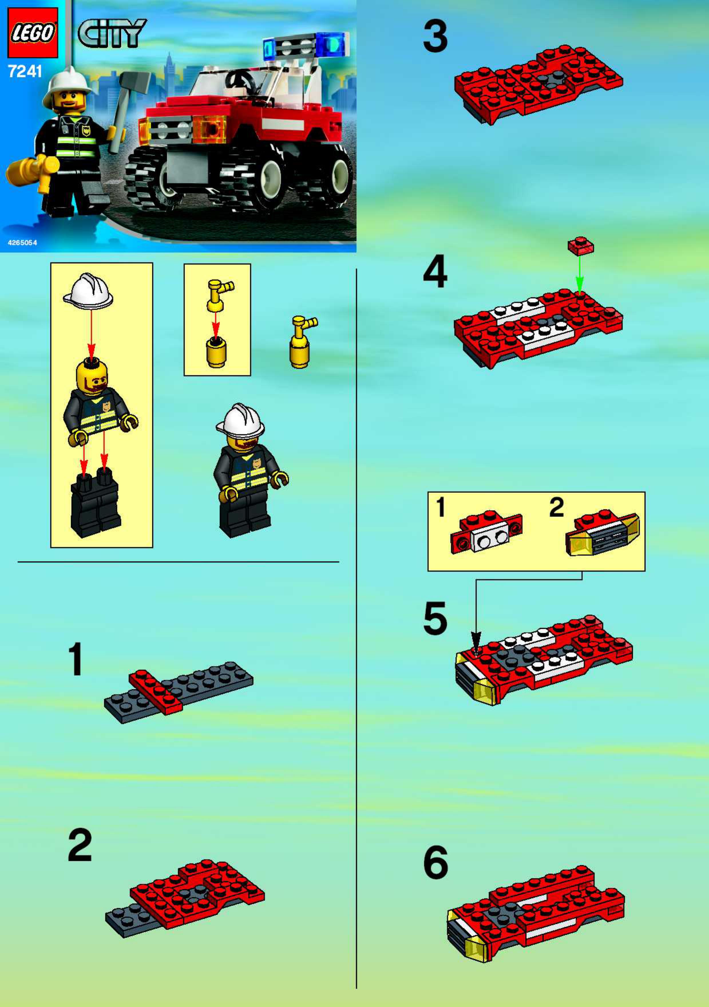 Схема сборки лего 60002