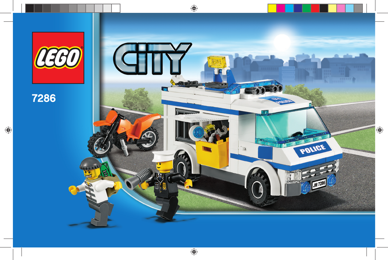 handleiding lego city police city police 2 7286 pagina 1 van 64 dansk deutsch english. Black Bedroom Furniture Sets. Home Design Ideas