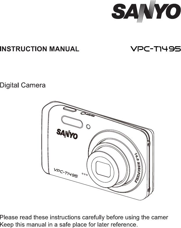 handleiding sanyo vpc t1495 pagina 1 van 47 english rh gebruikershandleiding com User Manual Clip Art User Guide