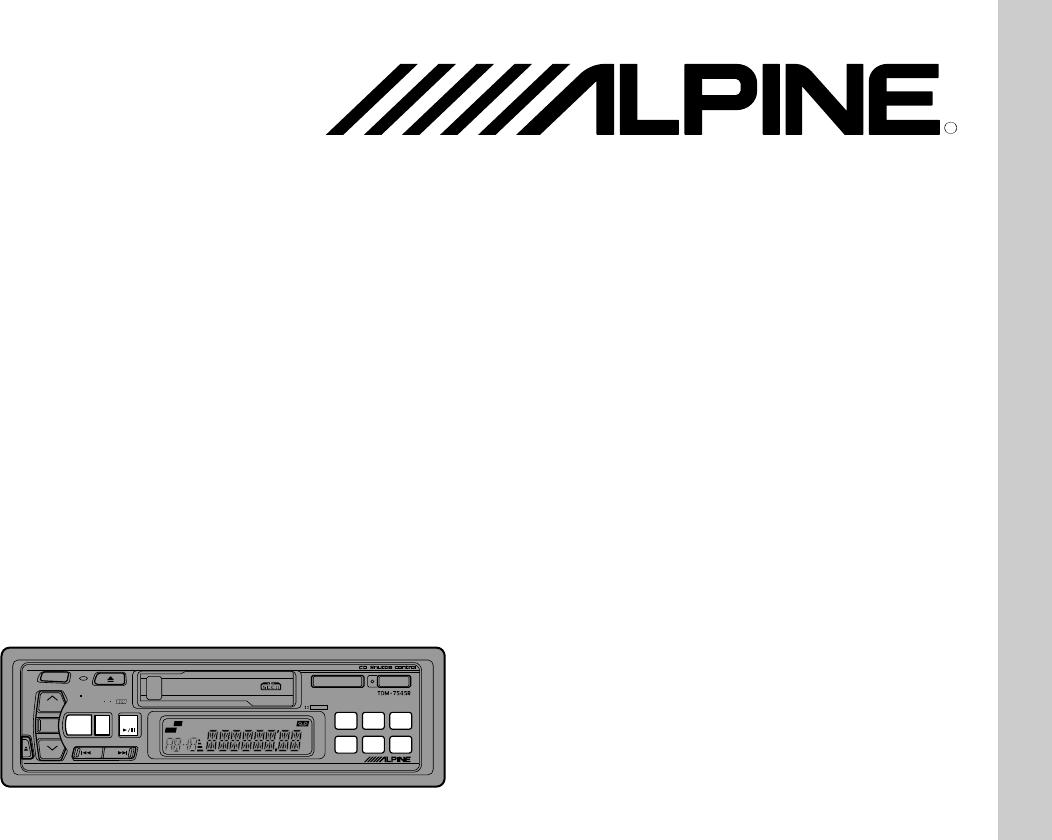 handleiding alpine tdm 7544 r  pagina 1 van 68   english