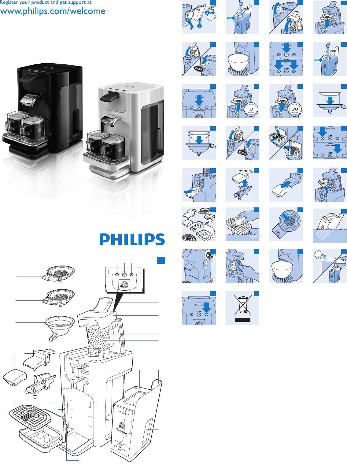 Extreem Handleiding Philips hd 7860 senseo quadrante (pagina 1 van 9 DN26