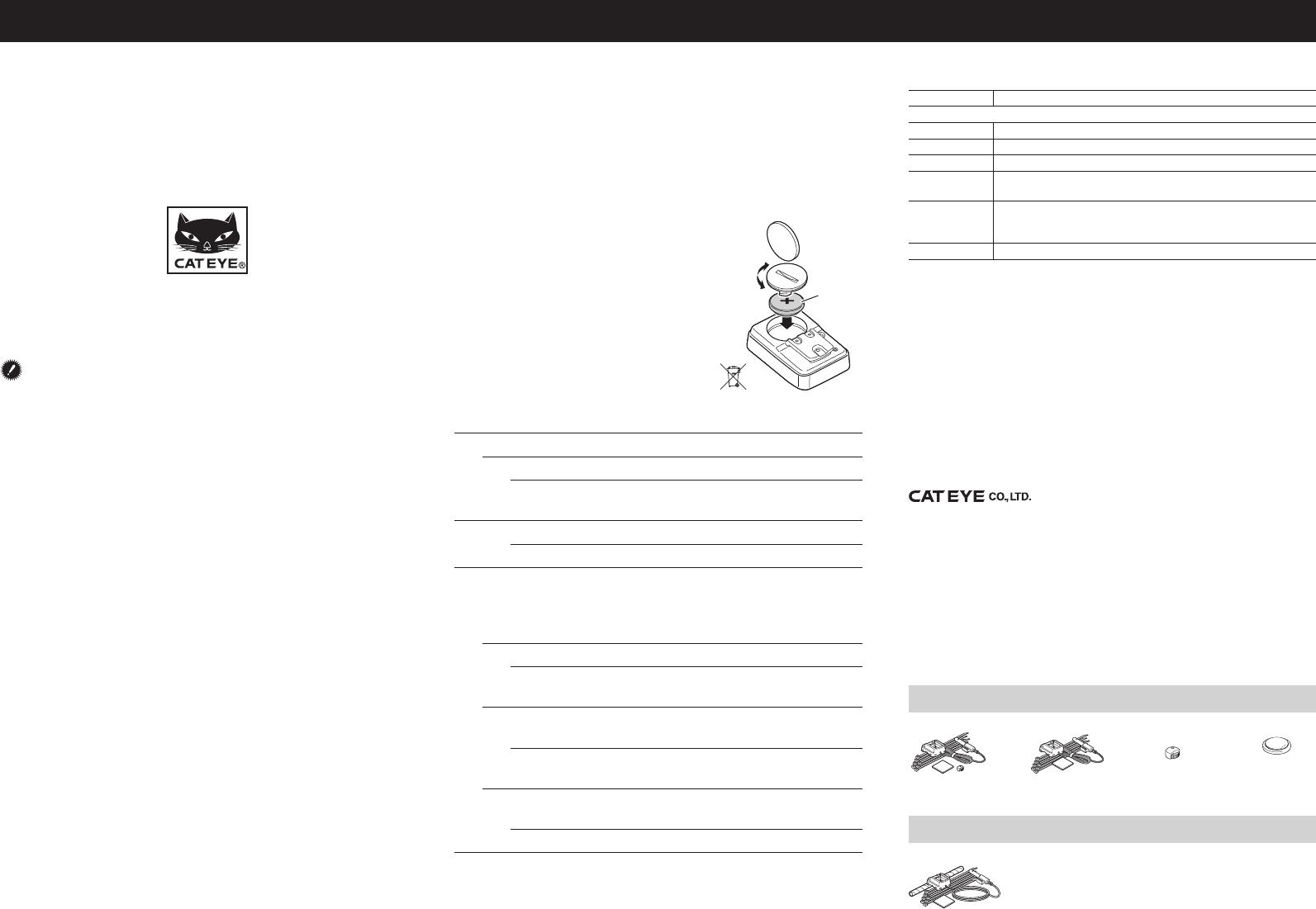 cateye velo 7 manual english