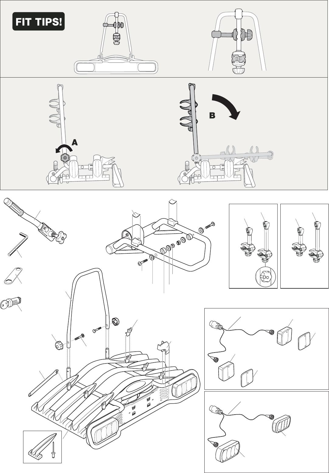 handleiding thule euroway 945 pagina 15 van 16 deutsch. Black Bedroom Furniture Sets. Home Design Ideas
