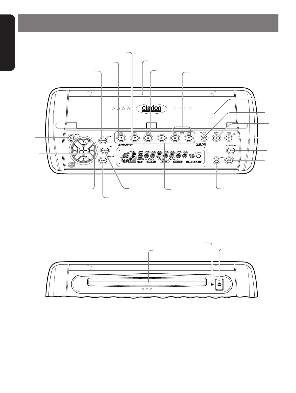 Handleiding Clarion Xmd3 Pagina 5 Van 22 English Marine Wiring Diagram