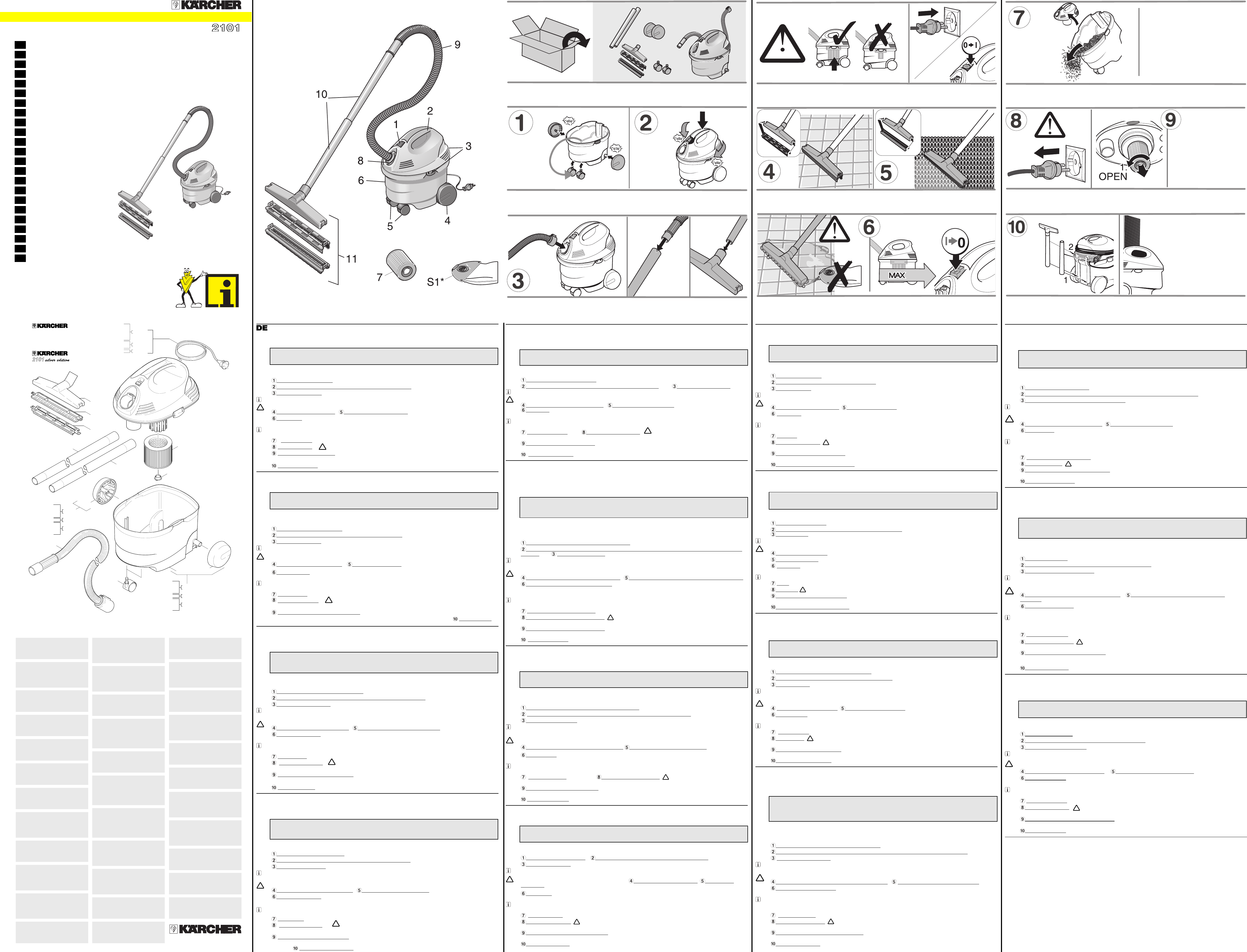 Handleiding Karcher K2101 Pagina 1 Van 2 Dansk Deutsch