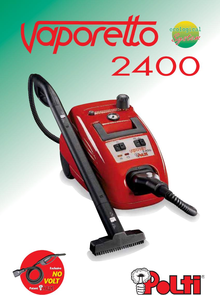 Handleiding polti vaporetto 2400 pagina 1 van 64 for Polti vaporetto 2400