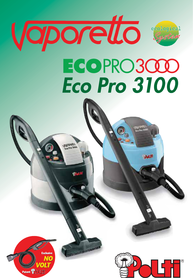 Vaporetto Eco Pro 3000.Handleiding Polti Vaporetto Eco Pro 3000 Pagina 1 Van 9