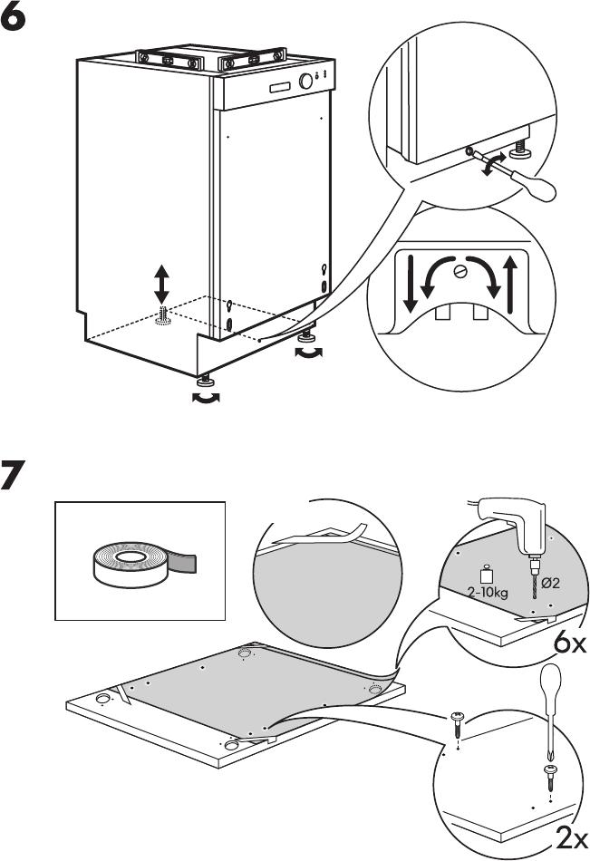 handleiding ikea lagan dw60 pagina 9 van 16 alle talen. Black Bedroom Furniture Sets. Home Design Ideas