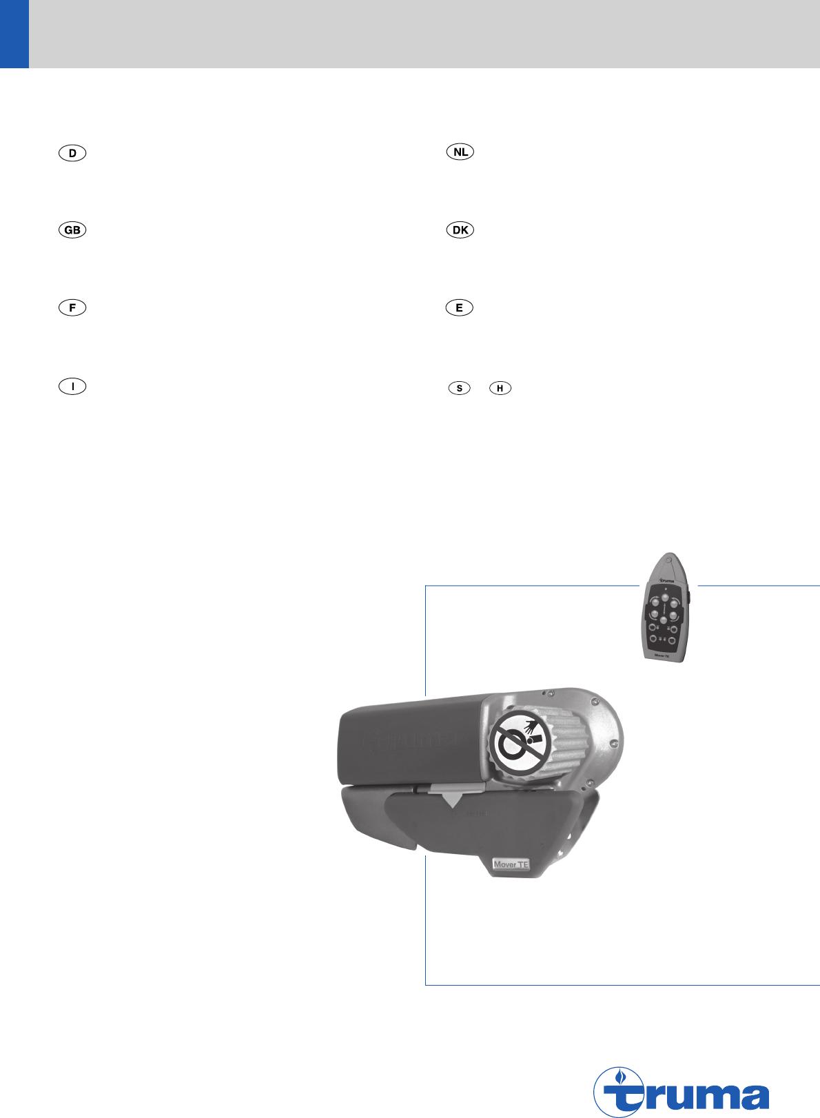 handleiding truma mover mover se pagina 1 van 14 dansk. Black Bedroom Furniture Sets. Home Design Ideas