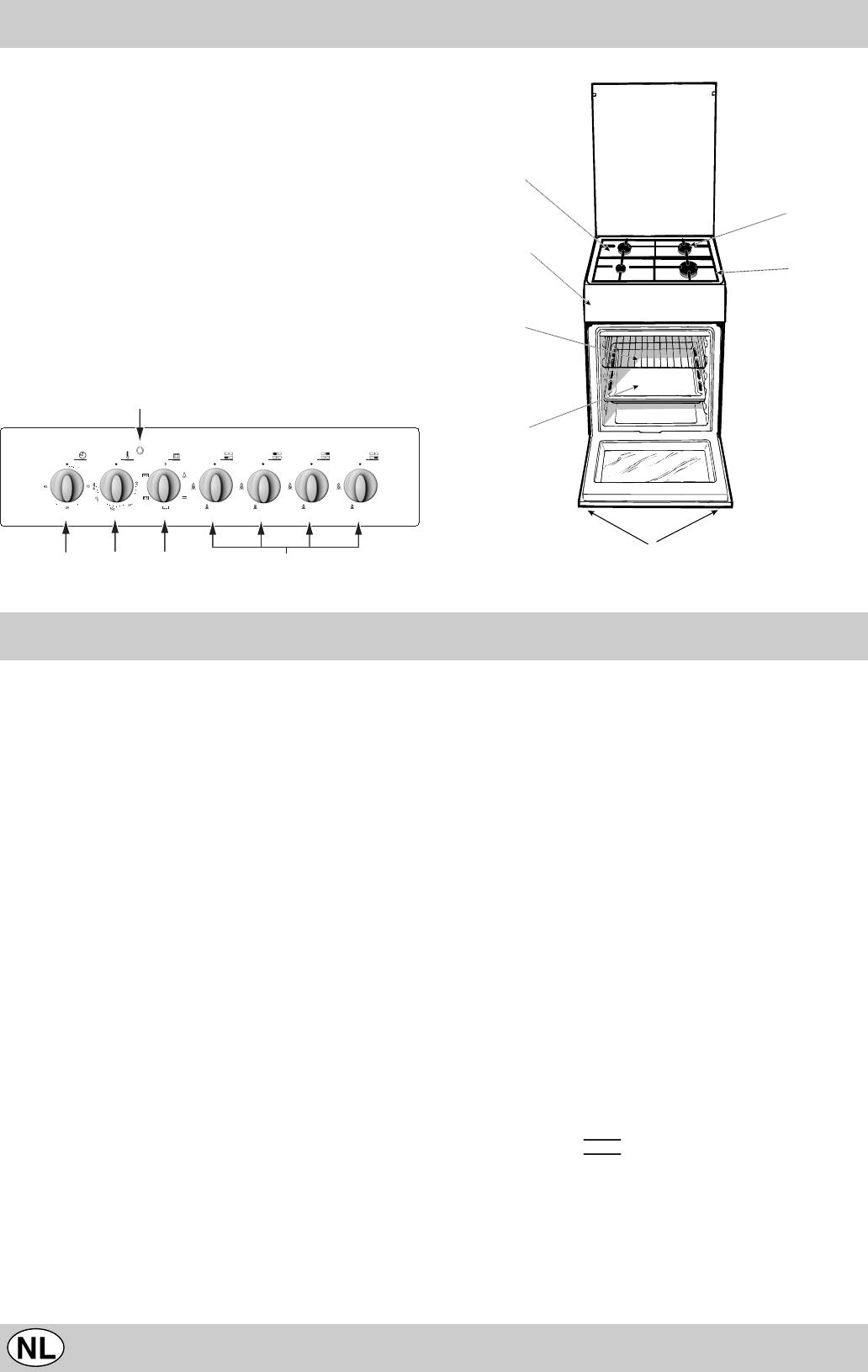 Indesit gasfornuis met oven handleiding