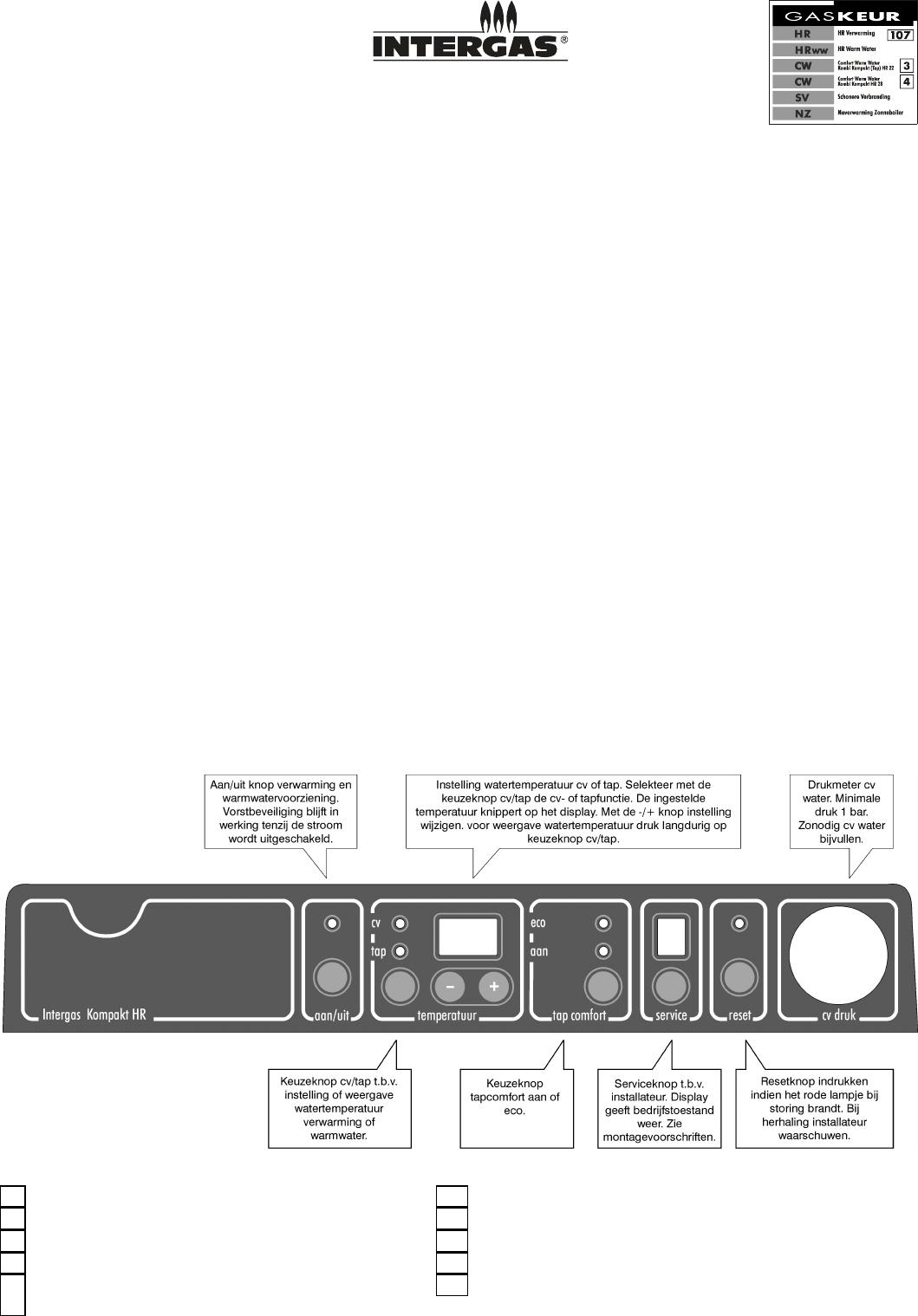 handleiding intergas hr 22 kombi kompakt  pagina 1 van 2
