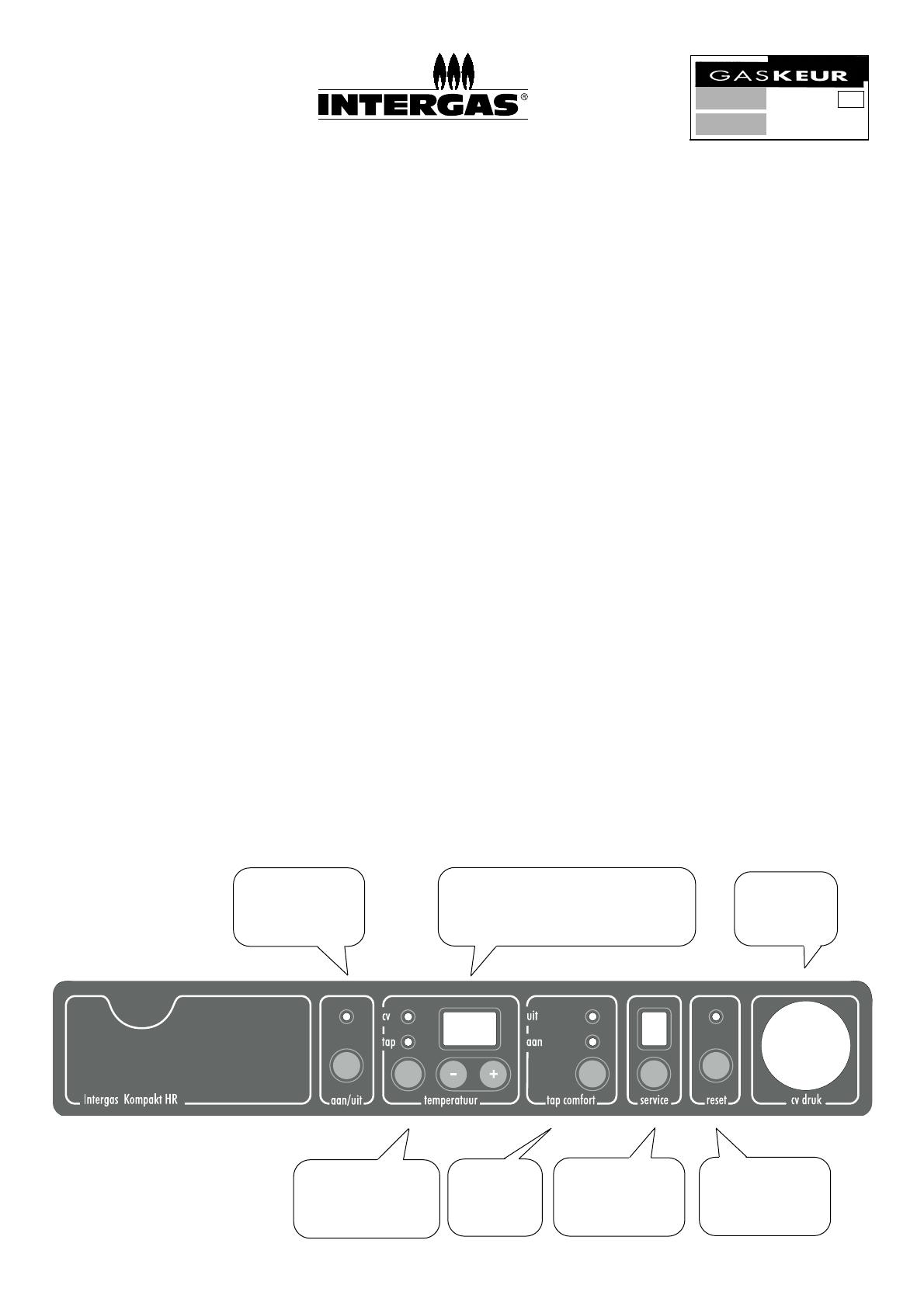 Intergas Kompakt Hr.Handleiding Intergas Kompakt Solo Hr Pagina 1 Van 2