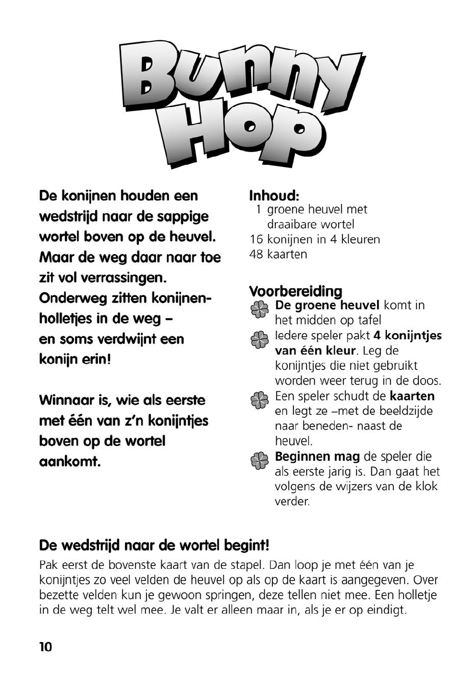 Handleiding Ravensburger bunny hop (pagina 1 van 4) (Nederlands)